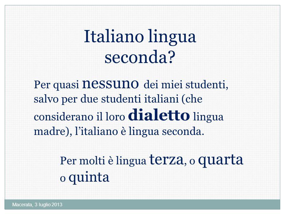 Italiano lingua seconda