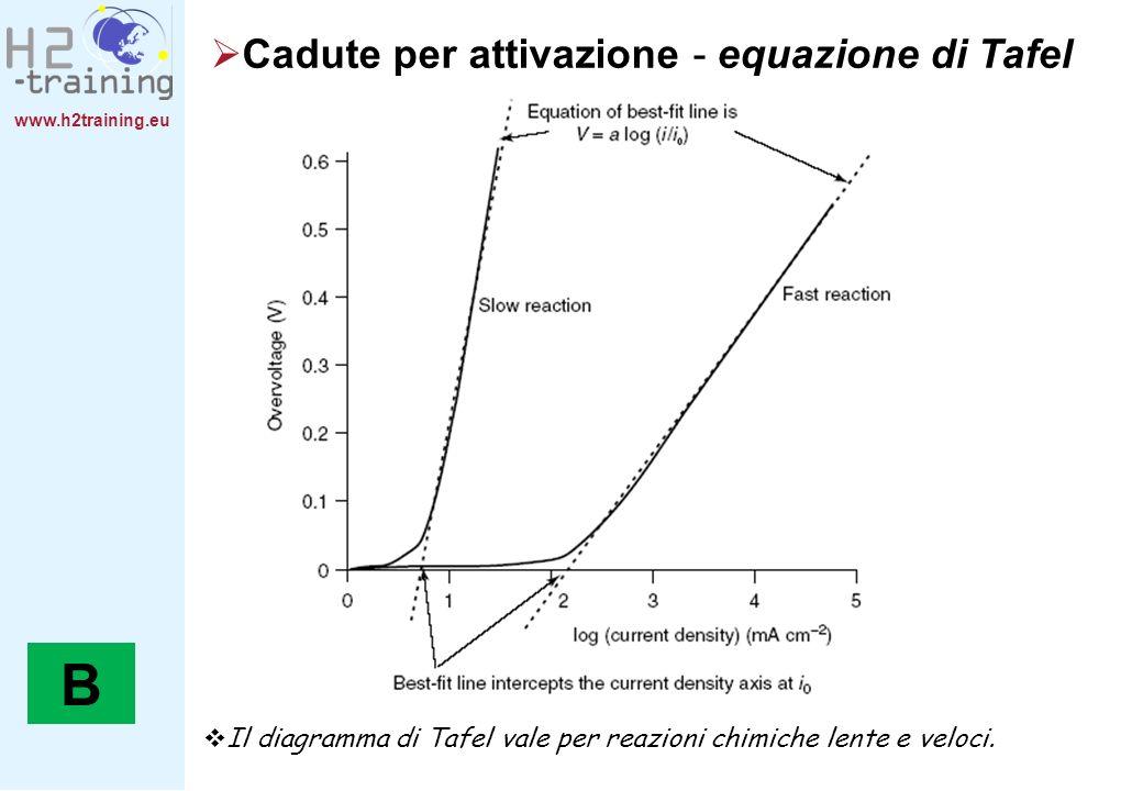 B Cadute per attivazione - equazione di Tafel