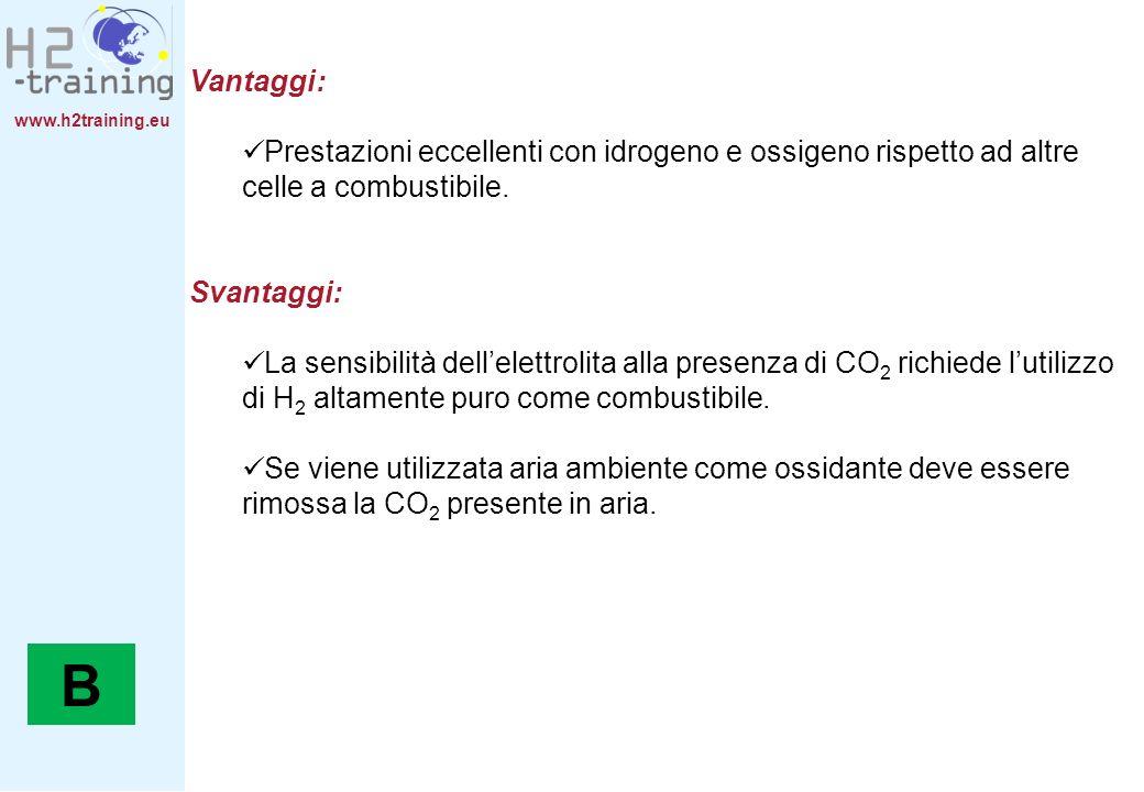 H2 Training Manual Vantaggi: Prestazioni eccellenti con idrogeno e ossigeno rispetto ad altre celle a combustibile.