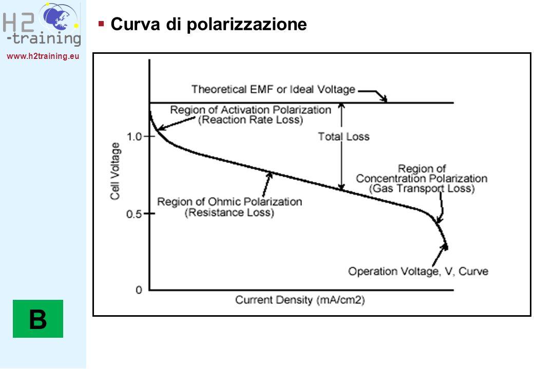 B Curva di polarizzazione