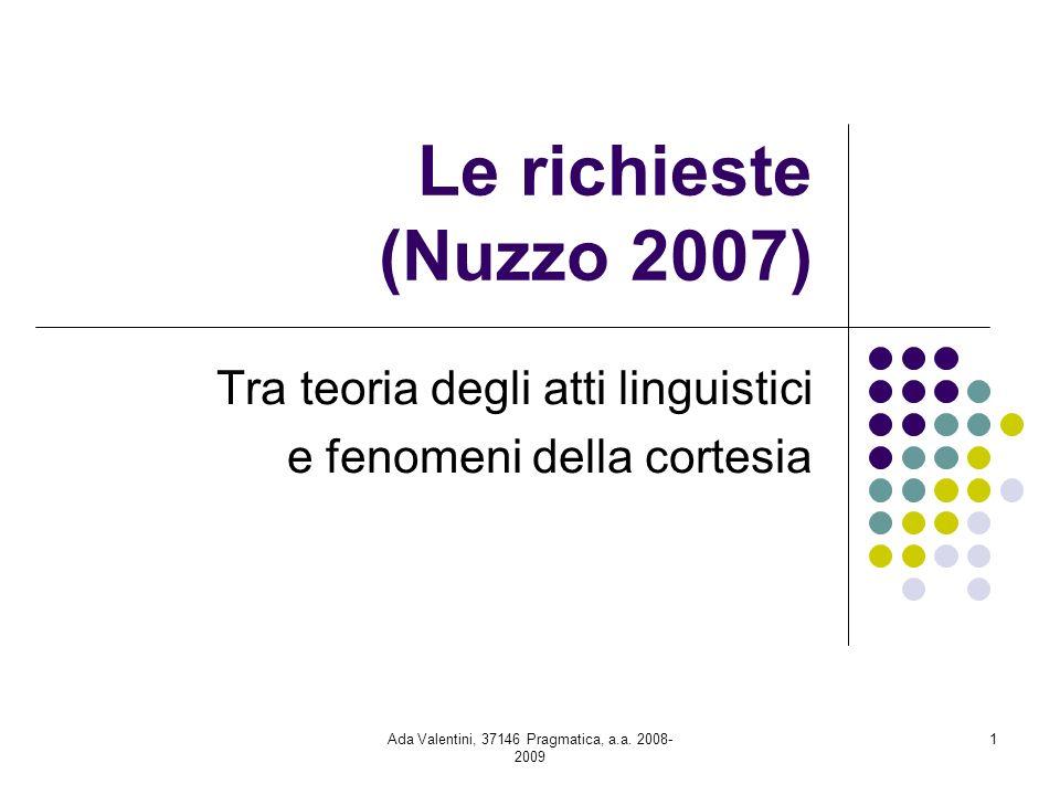 Tra teoria degli atti linguistici e fenomeni della cortesia
