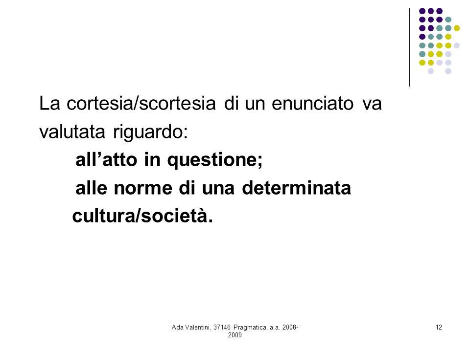 Ada Valentini, 37146 Pragmatica, a.a. 2008-2009