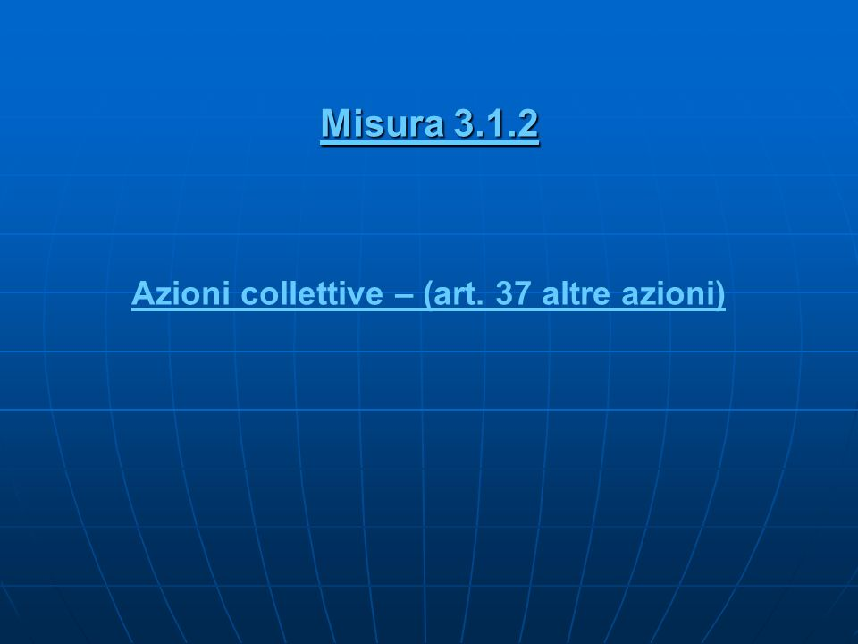 Azioni collettive – (art. 37 altre azioni)