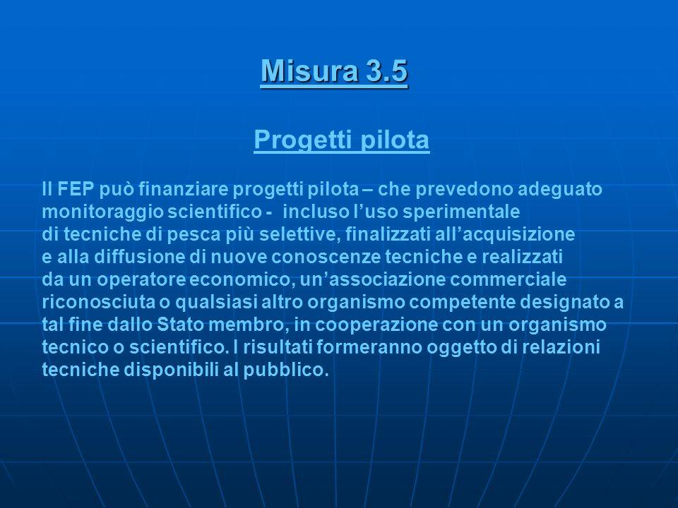 Misura 3.5 Progetti pilota