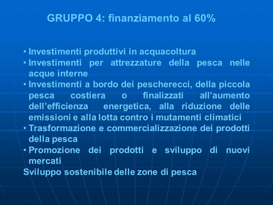 GRUPPO 4: finanziamento al 60%