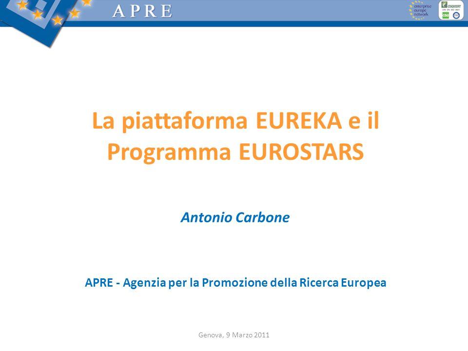 La piattaforma EUREKA e il Programma EUROSTARS
