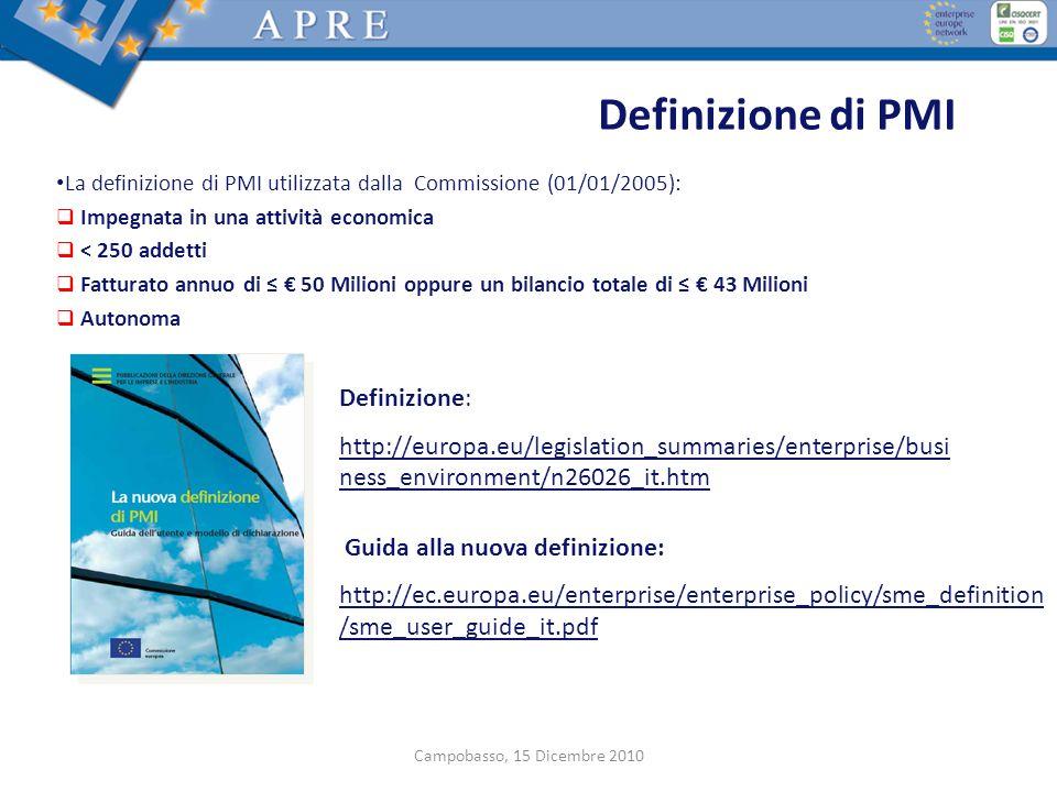 Definizione di PMI Definizione: