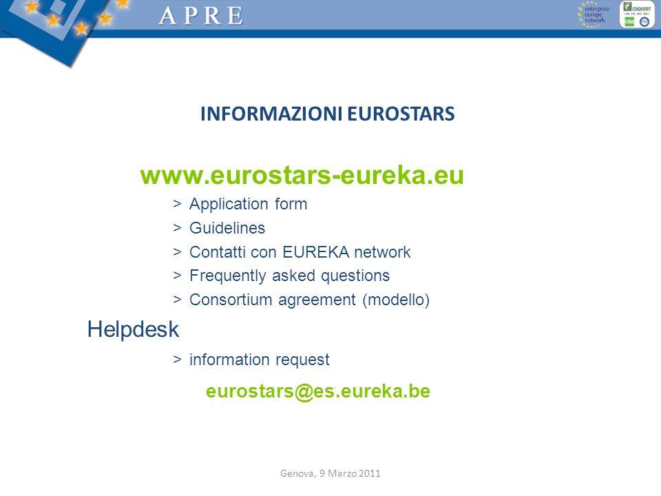 INFORMAZIONI EUROSTARS