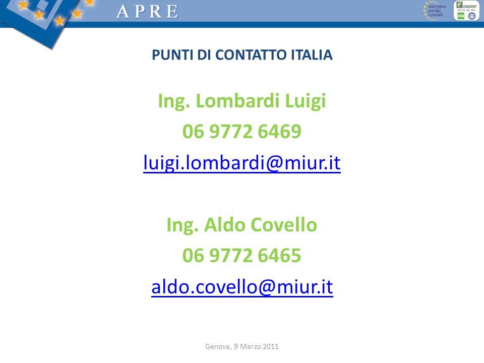 PUNTI DI CONTATTO ITALIA