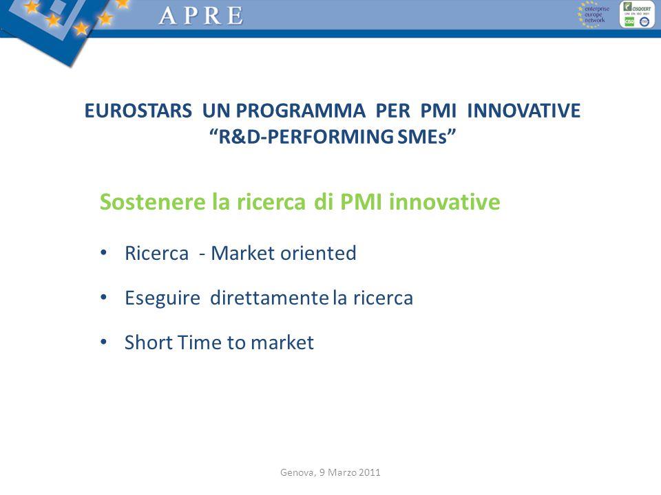 EUROSTARS UN PROGRAMMA PER PMI INNOVATIVE R&D-PERFORMING SMEs