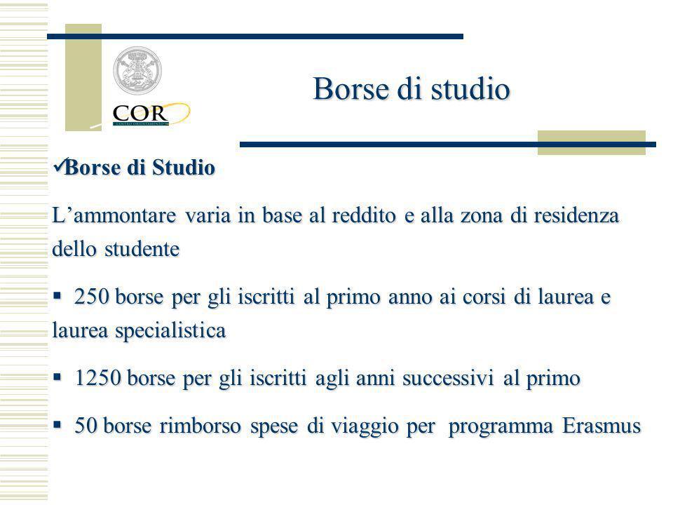 Borse di studio Borse di Studio