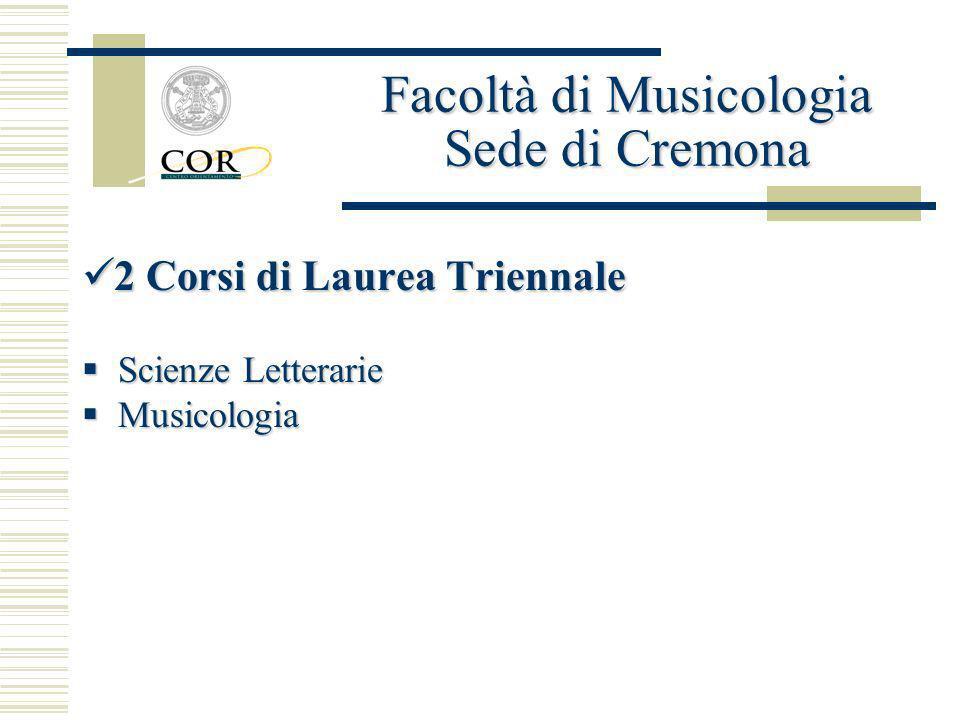 Facoltà di Musicologia Sede di Cremona