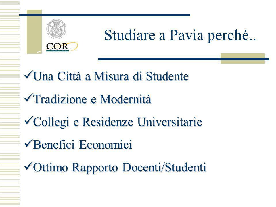 Studiare a Pavia perché..