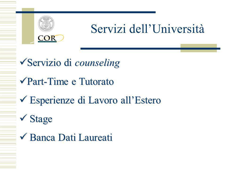 Servizi dell'Università