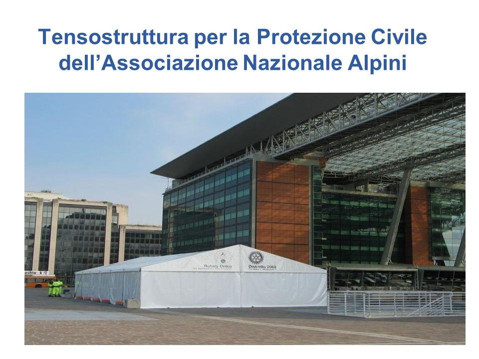 Tensostruttura per la Protezione Civile dell'Associazione Nazionale Alpini