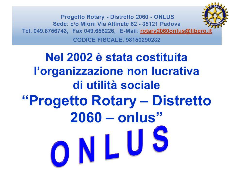 Progetto Rotary – Distretto 2060 – onlus