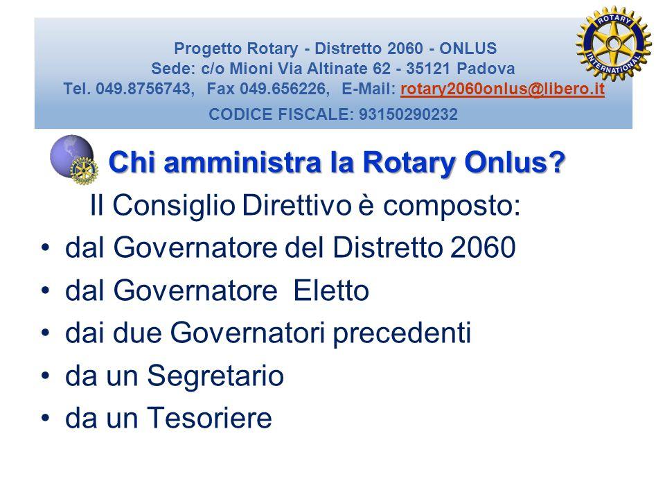 Chi amministra la Rotary Onlus