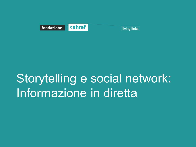 Storytelling e social network: