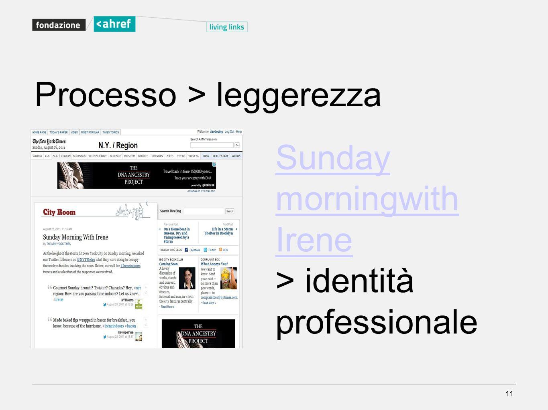 Processo > leggerezza
