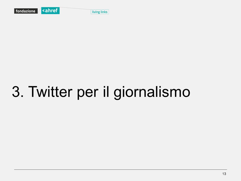 3. Twitter per il giornalismo