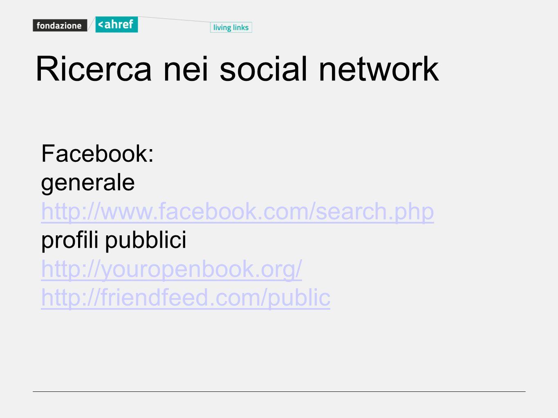 Ricerca nei social network