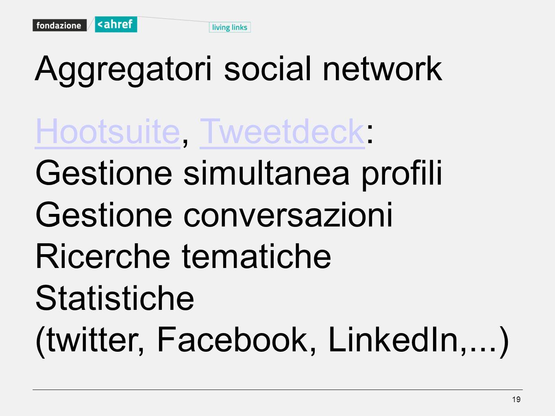 Aggregatori social network