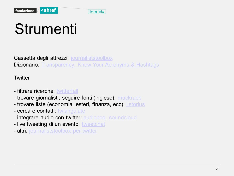 Strumenti Cassetta degli attrezzi: journaliststoolbox
