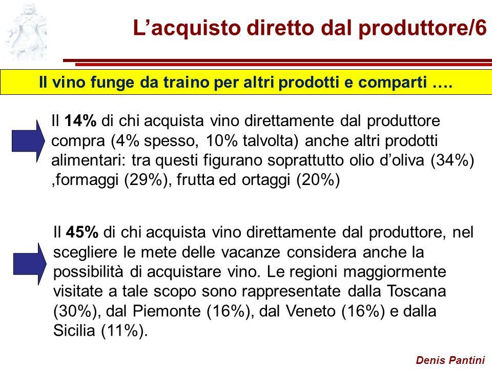 Il vino funge da traino per altri prodotti e comparti ….