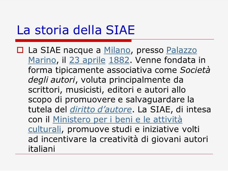 La storia della SIAE