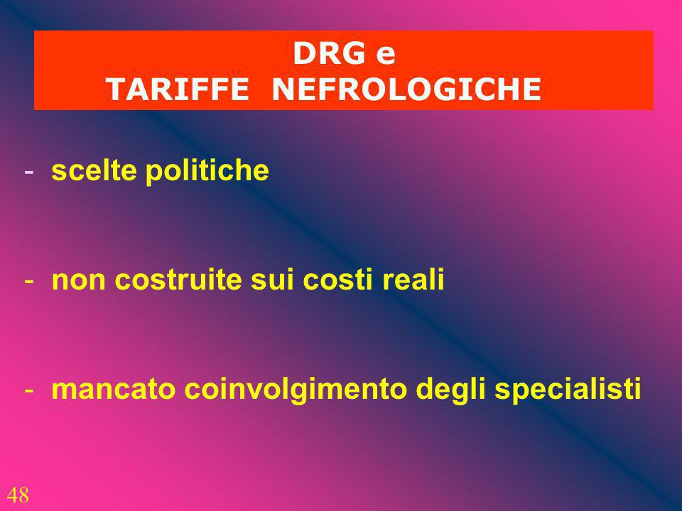 DRG e TARIFFE NEFROLOGICHE