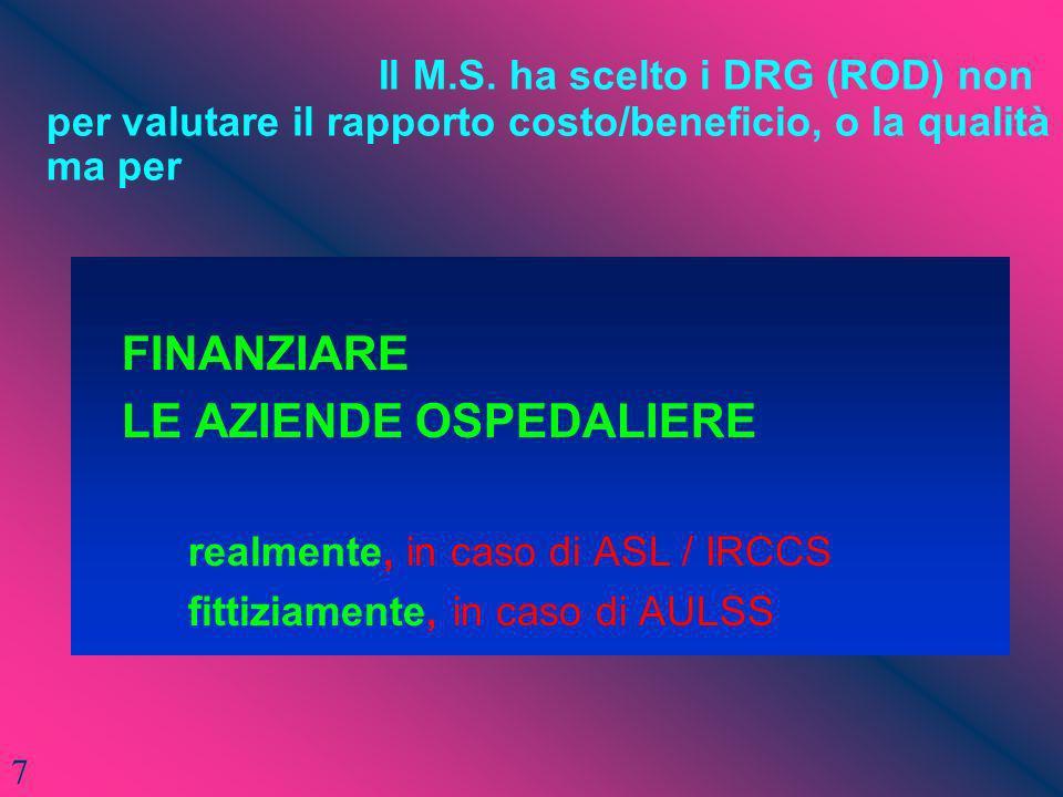 LE AZIENDE OSPEDALIERE