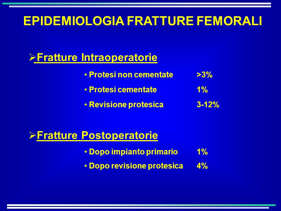 EPIDEMIOLOGIA FRATTURE FEMORALI