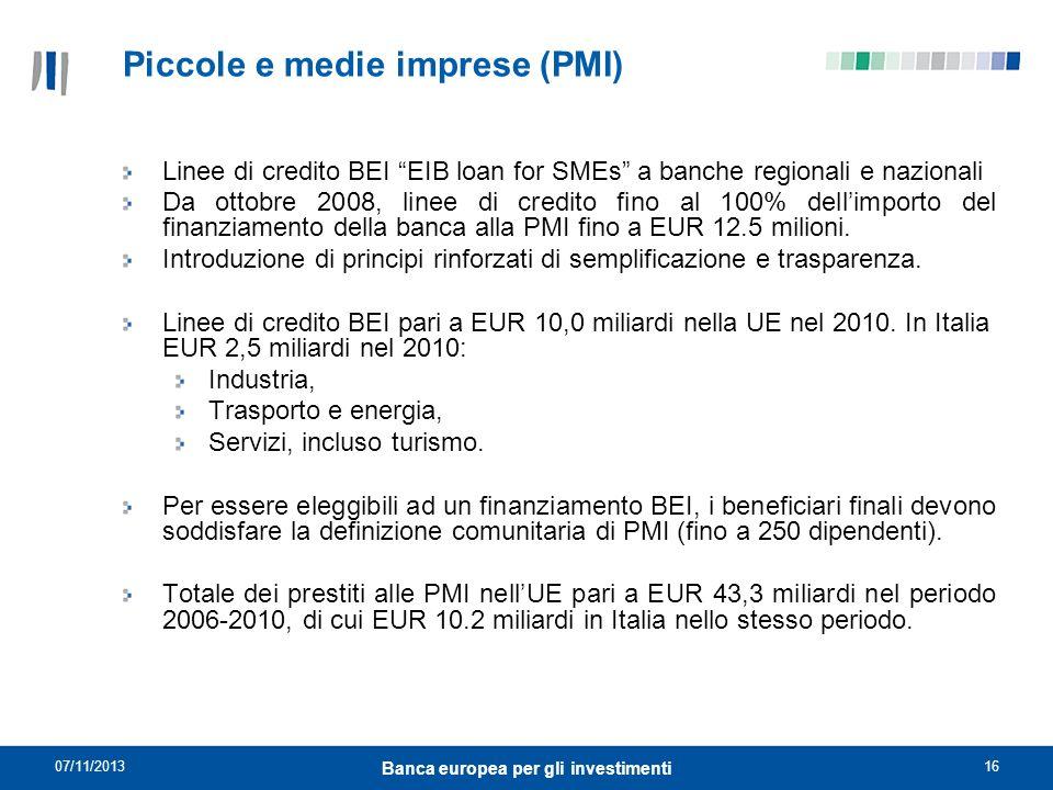Piccole e medie imprese (PMI)