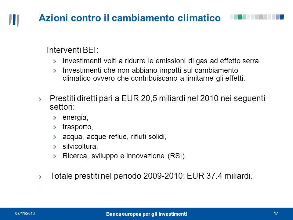 Azioni contro il cambiamento climatico