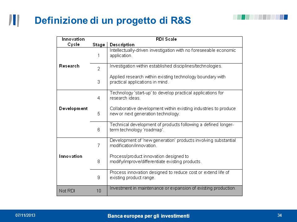 Definizione di un progetto di R&S