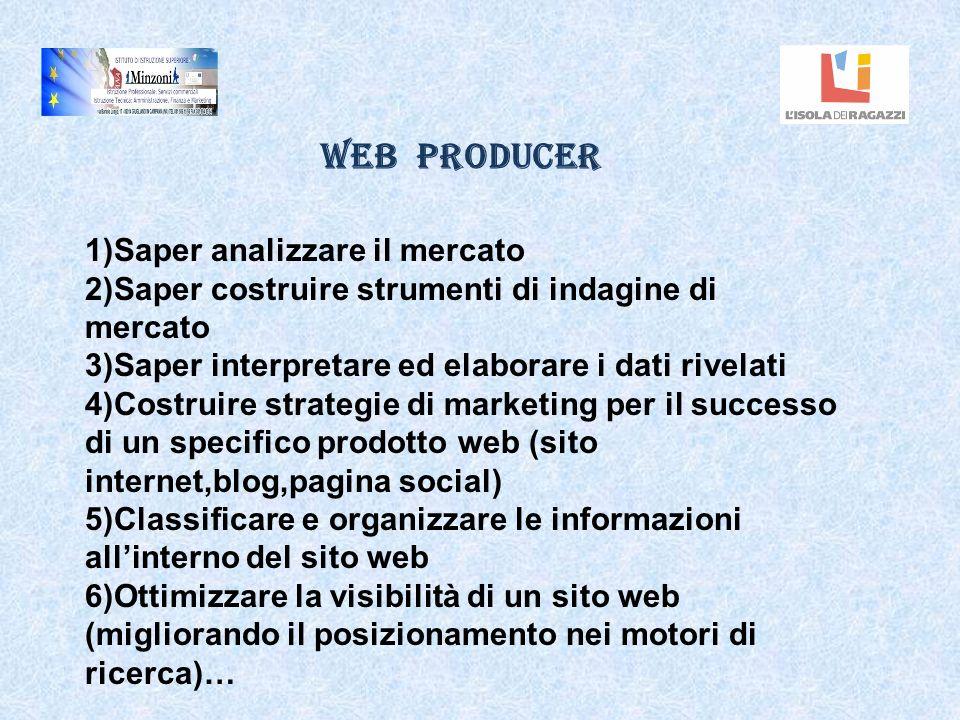 Web Producer 1)Saper analizzare il mercato