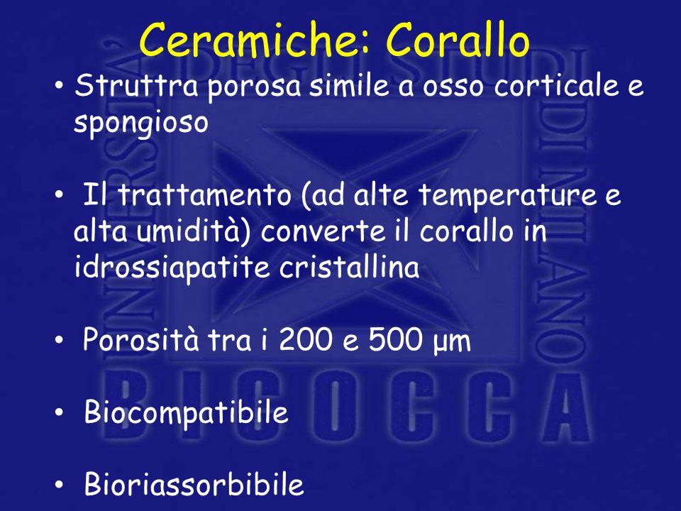 Ceramiche: Corallo Struttra porosa simile a osso corticale e spongioso