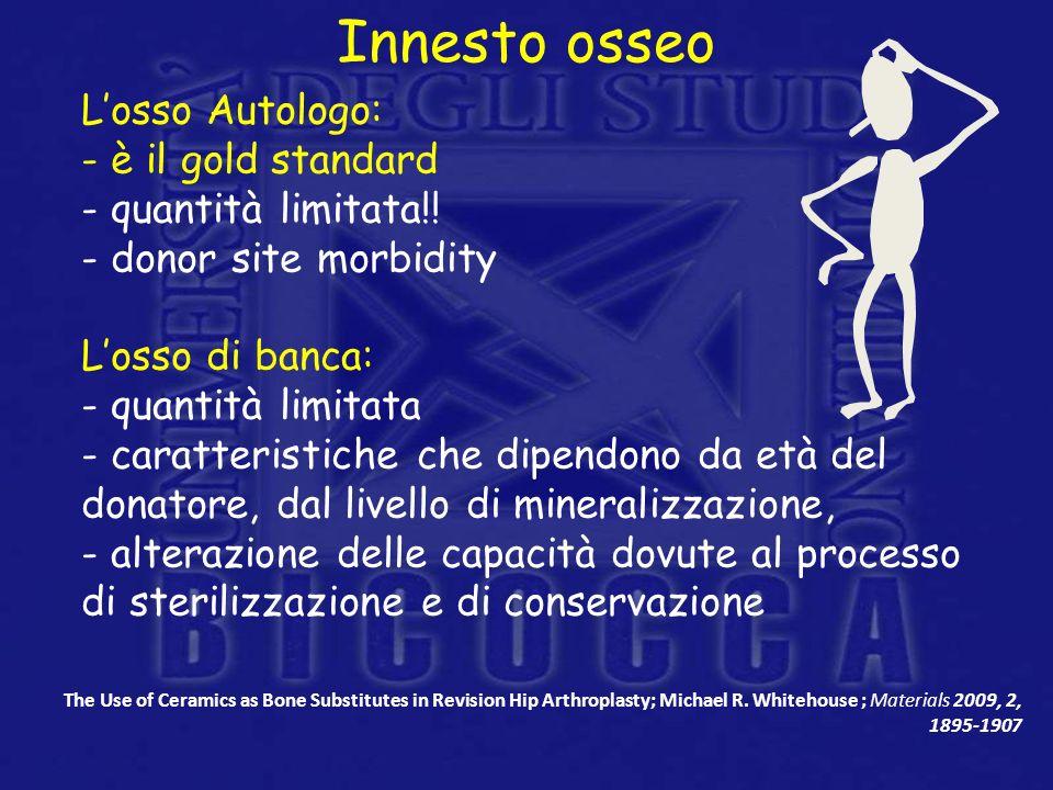 Innesto osseo L'osso Autologo: è il gold standard quantità limitata!!