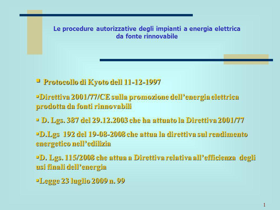 Protocollo di Kyoto dell 11-12-1997