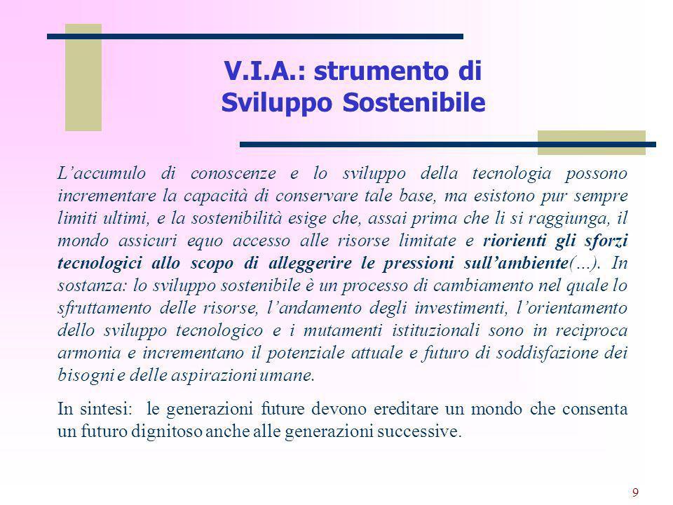 V.I.A.: strumento di Sviluppo Sostenibile