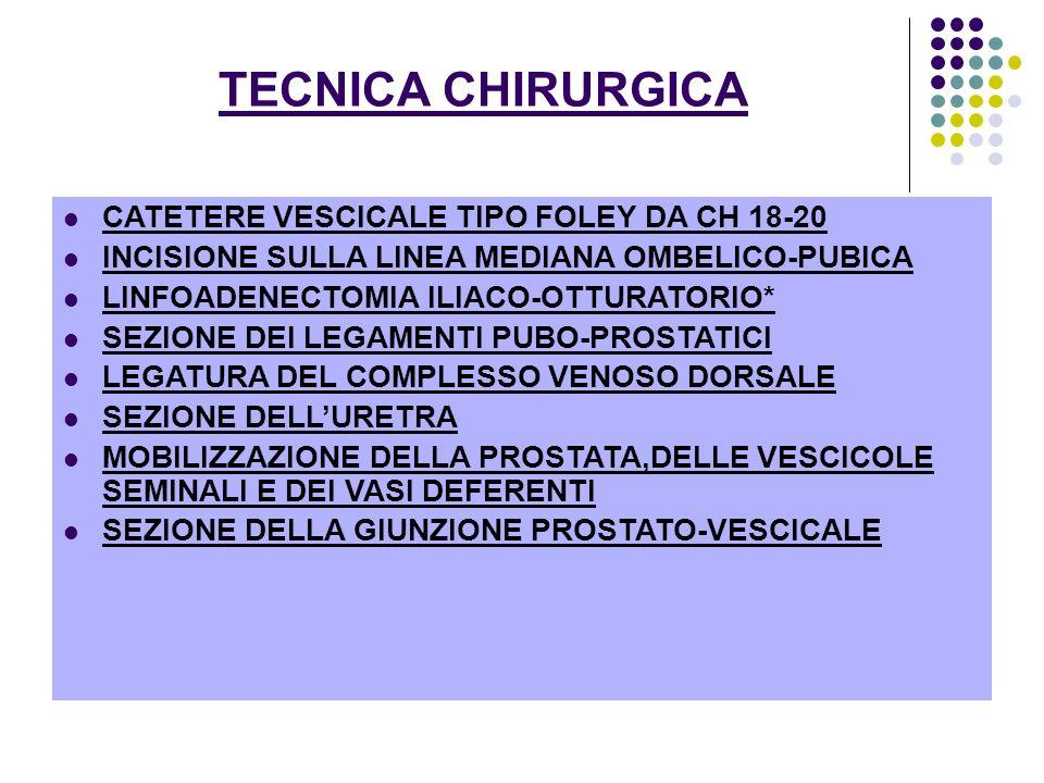TECNICA CHIRURGICA CATETERE VESCICALE TIPO FOLEY DA CH 18-20