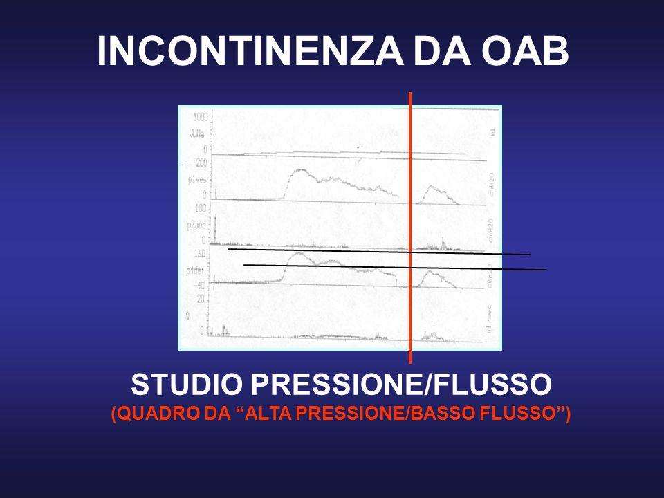 STUDIO PRESSIONE/FLUSSO (QUADRO DA ALTA PRESSIONE/BASSO FLUSSO )