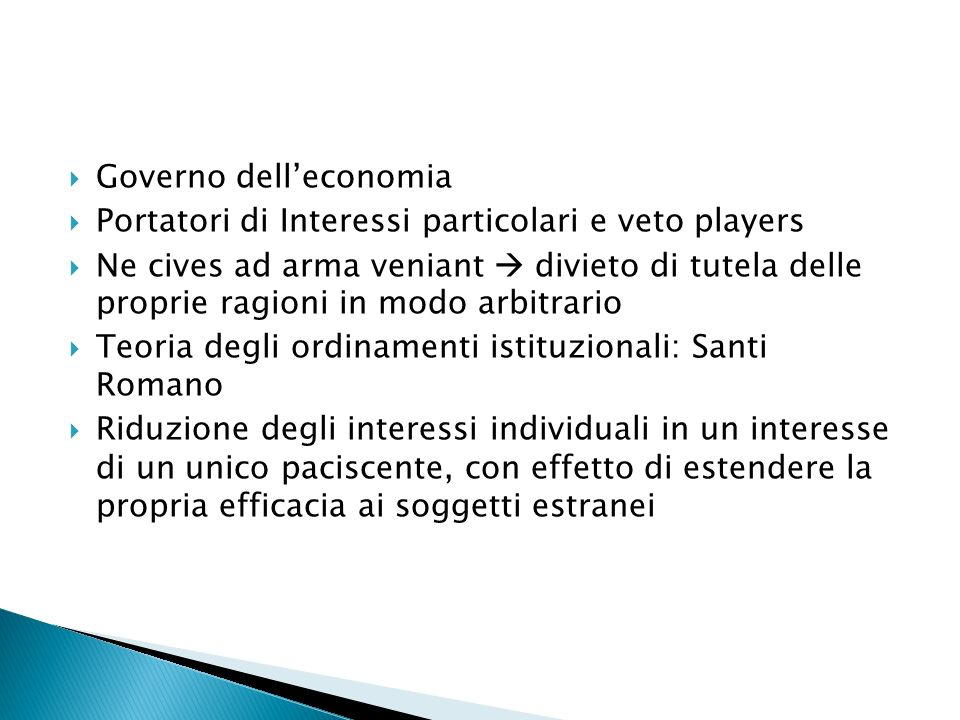 Governo dell'economia