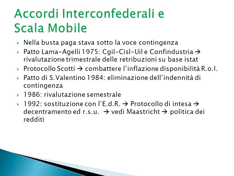 Accordi Interconfederali e Scala Mobile