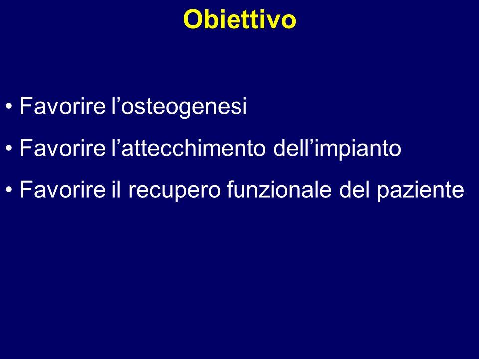 Obiettivo Favorire l'osteogenesi