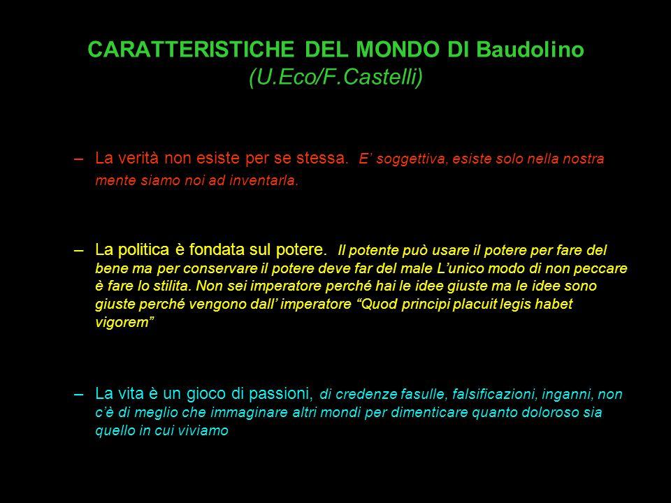 CARATTERISTICHE DEL MONDO DI Baudolino (U.Eco/F.Castelli)