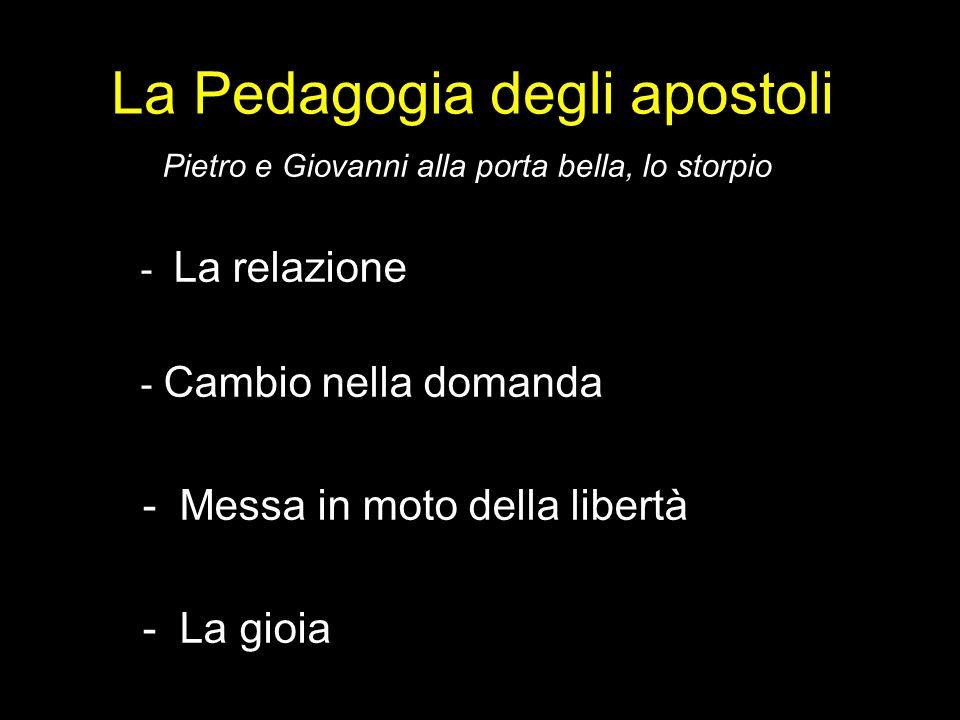 La Pedagogia degli apostoli