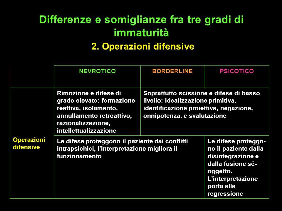 Differenze e somiglianze fra tre gradi di immaturità 2