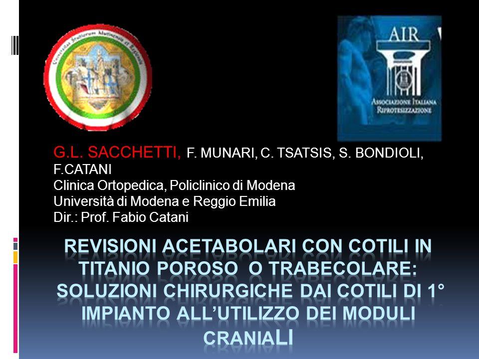 G.L. SACCHETTI, F. MUNARI, C. TSATSIS, S. BONDIOLI, F.CATANI
