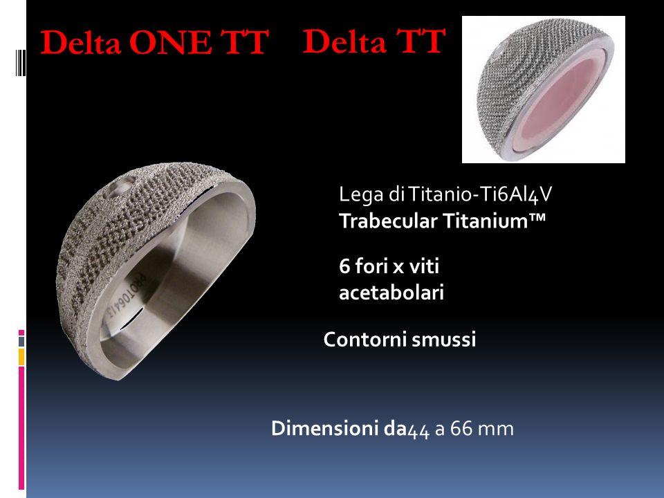 Delta ONE TT Delta TT Lega di Titanio-Ti6Al4V Trabecular Titanium™